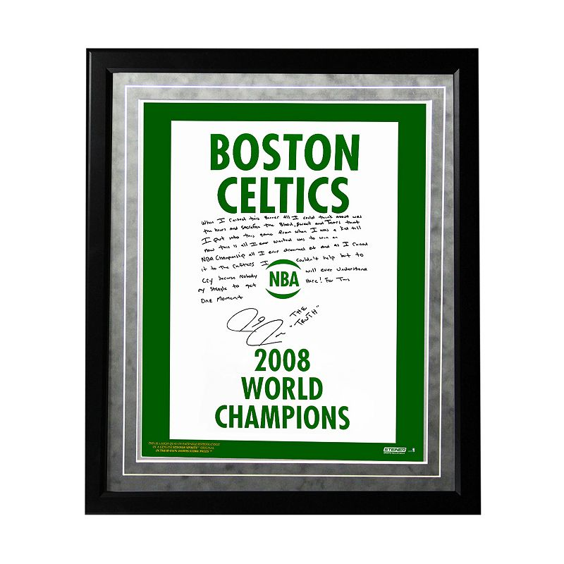 Steiner Sports Boston Celtics Paul Pierce 2008 Champions Banner Facsimile 16