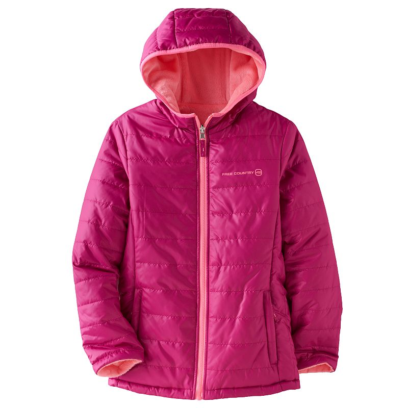 Girls 7-16 Free Country Reversible Puffer Jacket