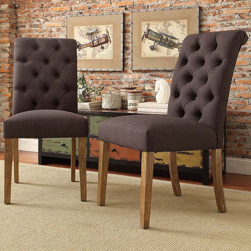 HomeVance Maplehurst 2-piece Tufted Chair Set
