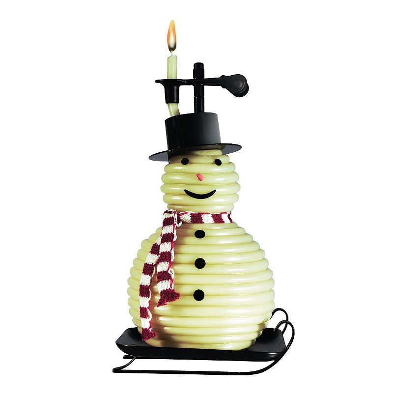 Candle By The Hour Snowman Beeswax Vanilla Candle