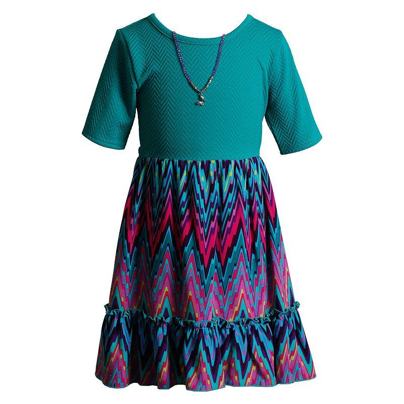 Girls 4-6x Youngland High-Low Chevron Dress
