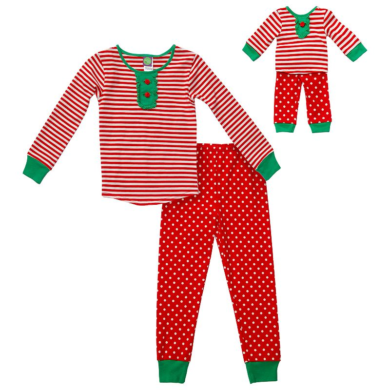 Girls 4-14 Dollie & Me Holiday Pajama Set