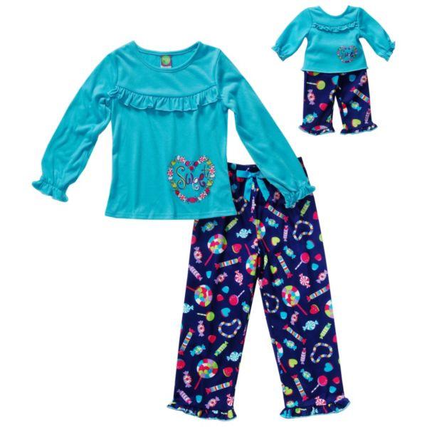 Girls 4-14 Dollie & Me Sweet Heart Candy Pajama Set