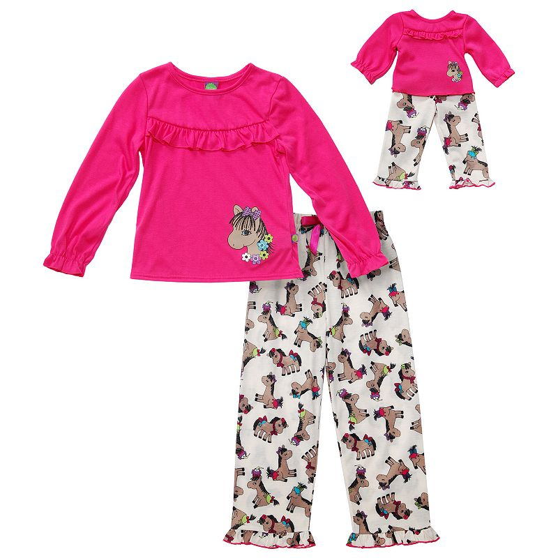 Girls 4-14 Dollie & Me Pony Pajama Set