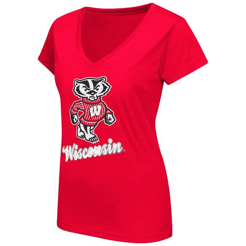 Women 39 s campus heritage wisconsin badgers vegas tee for Wisconsin badgers shirt women s