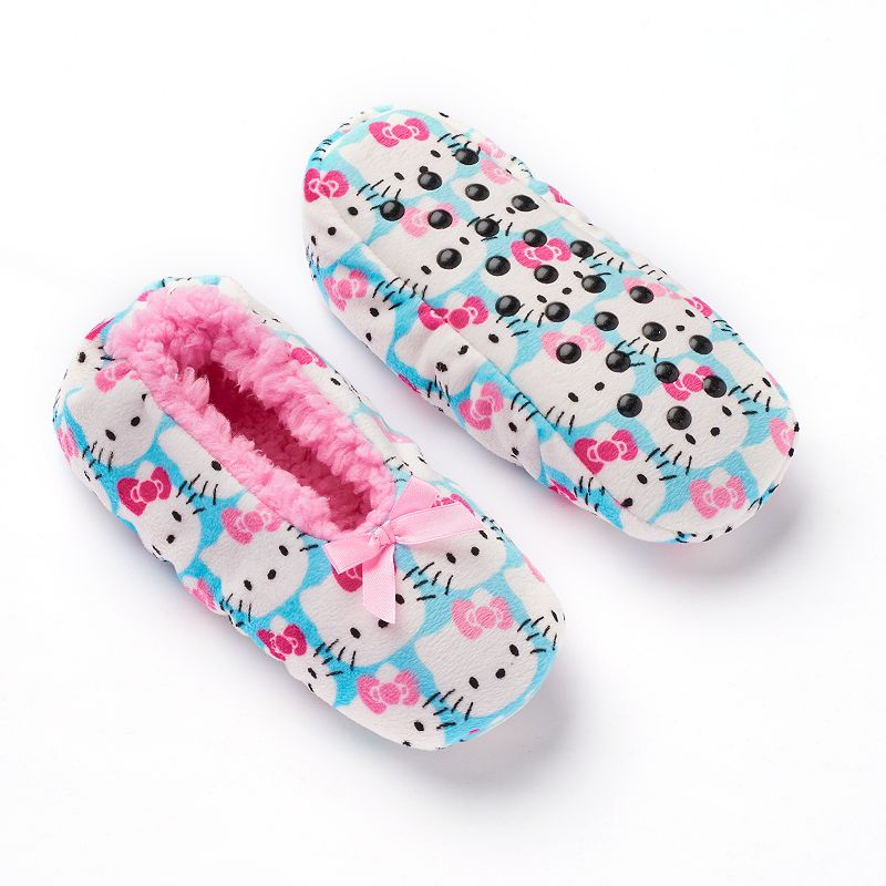 Hello Kitty® Girls Sherpa-Lined Suede Slippers