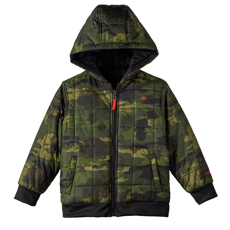 Boys 4-7 Pacific Trail Reversible Hooded Jacket