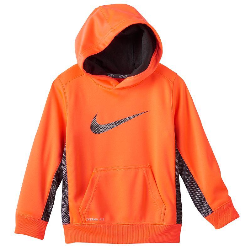 Nike Boys 4 7 Ko 3 0 Therma Fit Colorblock Hoodie 5 Orange | Top, Sweatshirt and Clothing