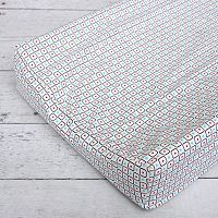 Caden Lane Red Square Changing Pad Cover