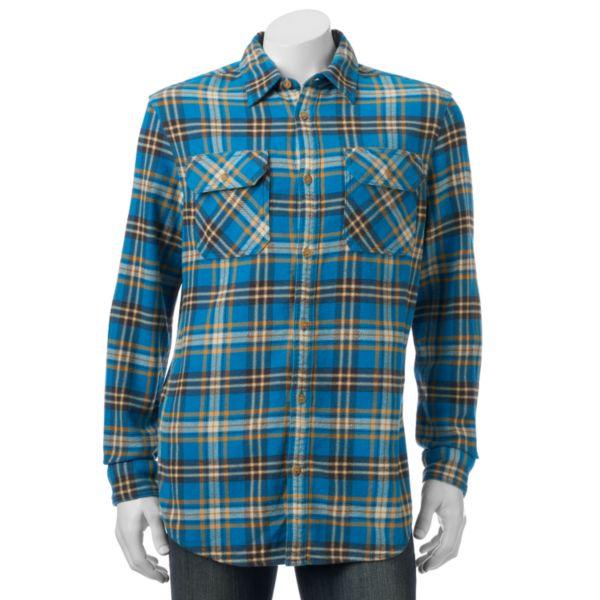Men's SONOMA Goods for Life™ Plaid Heavyweight Flannel Shirt