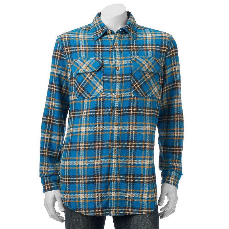 Men's SONOMA Goods for Life™ Plaid Heavyweight Flannel Shirt