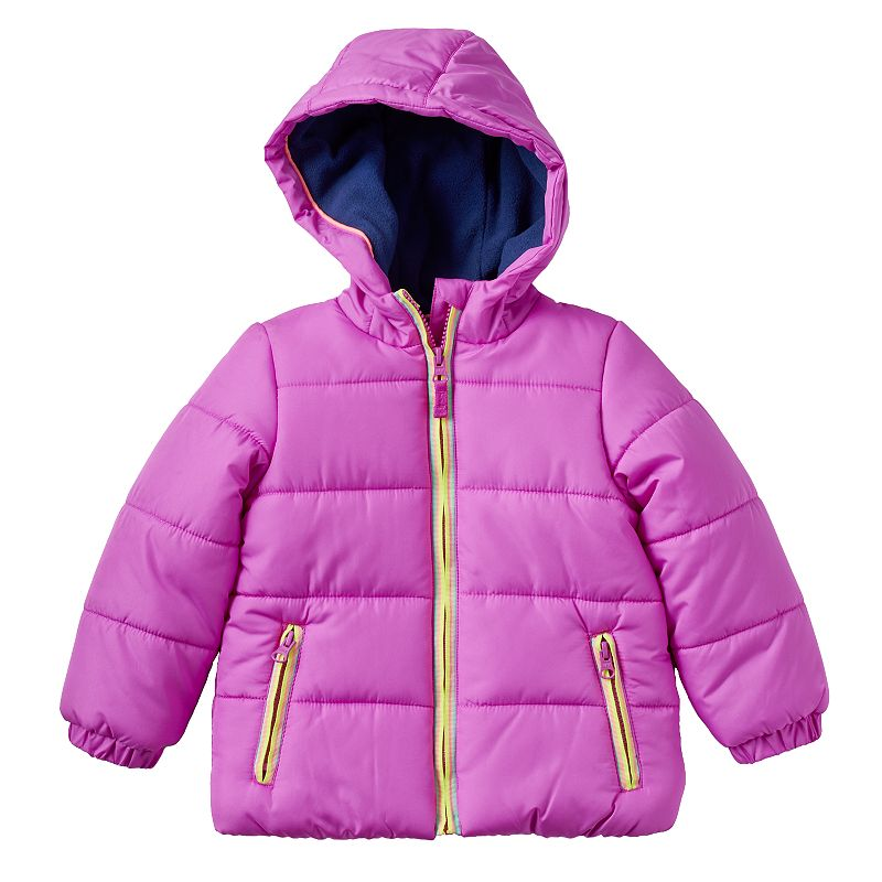 Baby Girl Carter's Solid Puffer Jacket