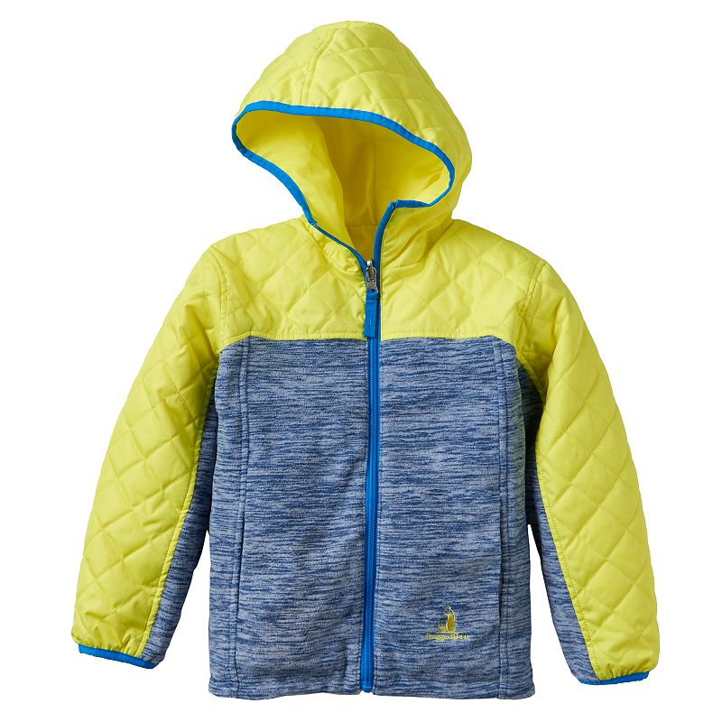 Rugged Bear Quilted Reversible Hooded Jacket - Boys 4-7