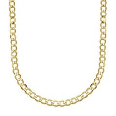 Everlasting Gold 14k Gold Curb Chain Necklace 22 in. by