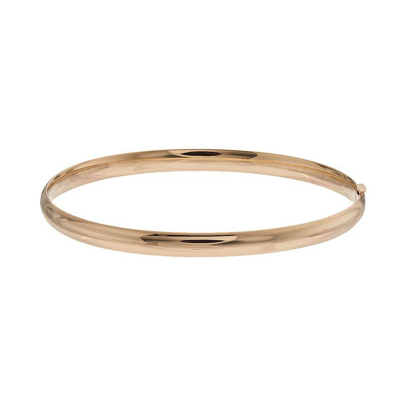 Everlasting Gold 10k Gold Hinged Bangle Bracelet
