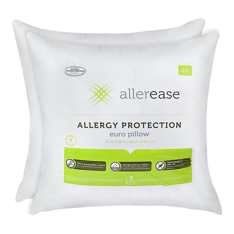 Allerease 2-pk. Allergy Protection Euro Pillows