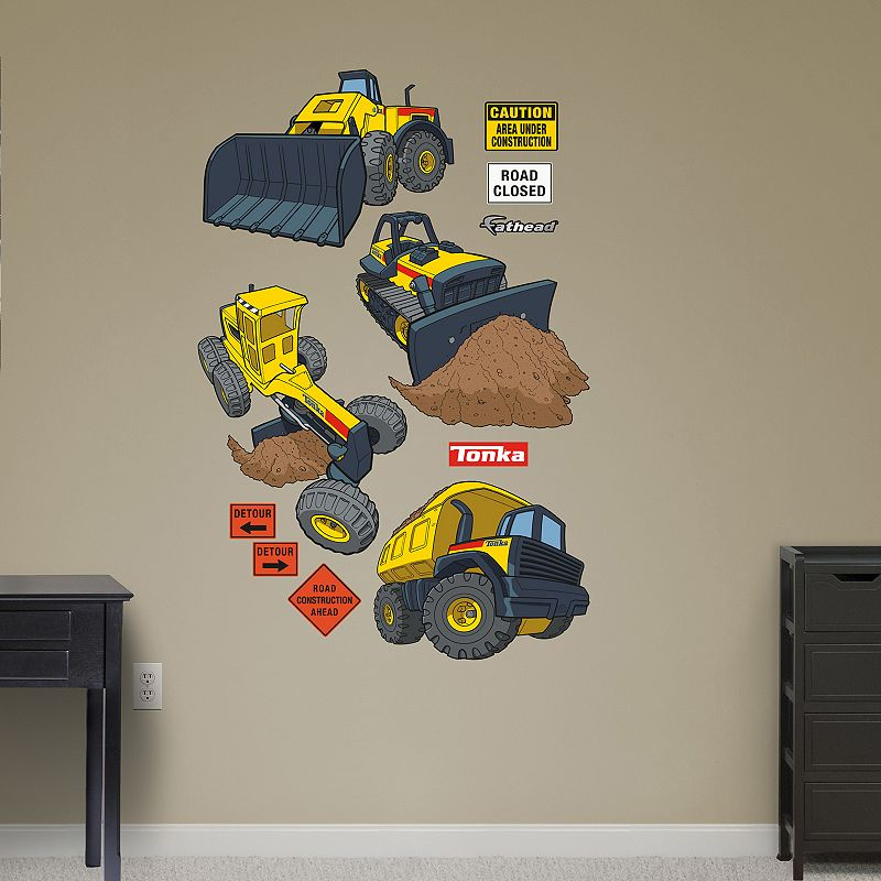 Tonka Heavy Machinery Collection Wall Decals by Fathead