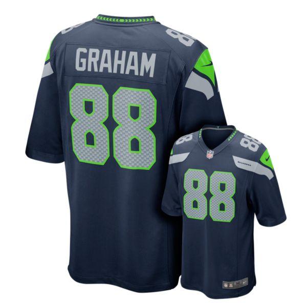 Men's Nike Seattle Seahawks Jimmy Graham Game NFL Replica Jersey