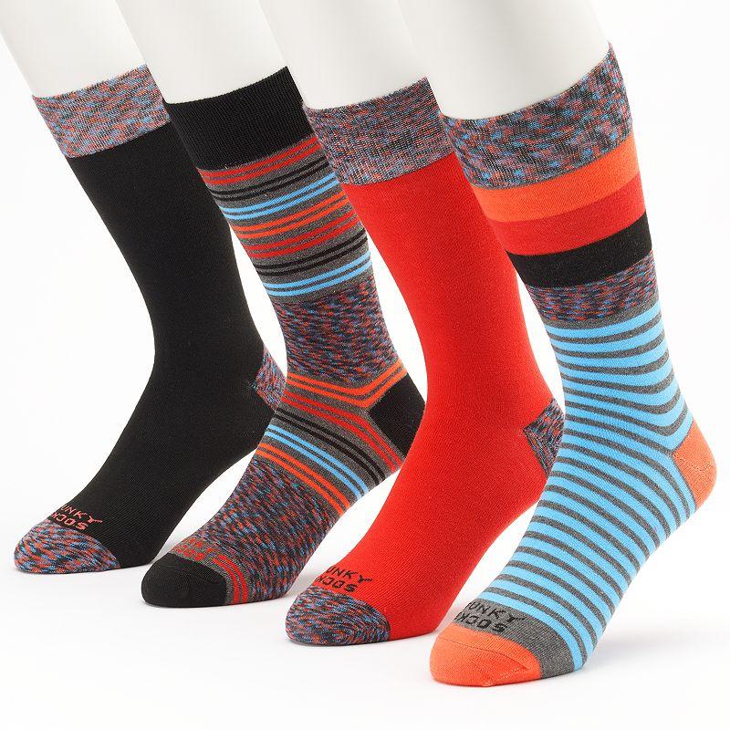Funky Socks Space-Dye Striped & Solid Crew Socks - Men
