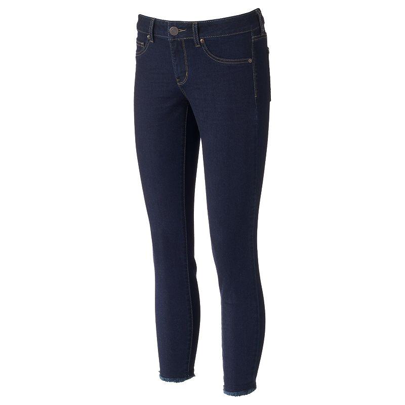 Juniors' SO® Fray Whiskered Skinny Jeans