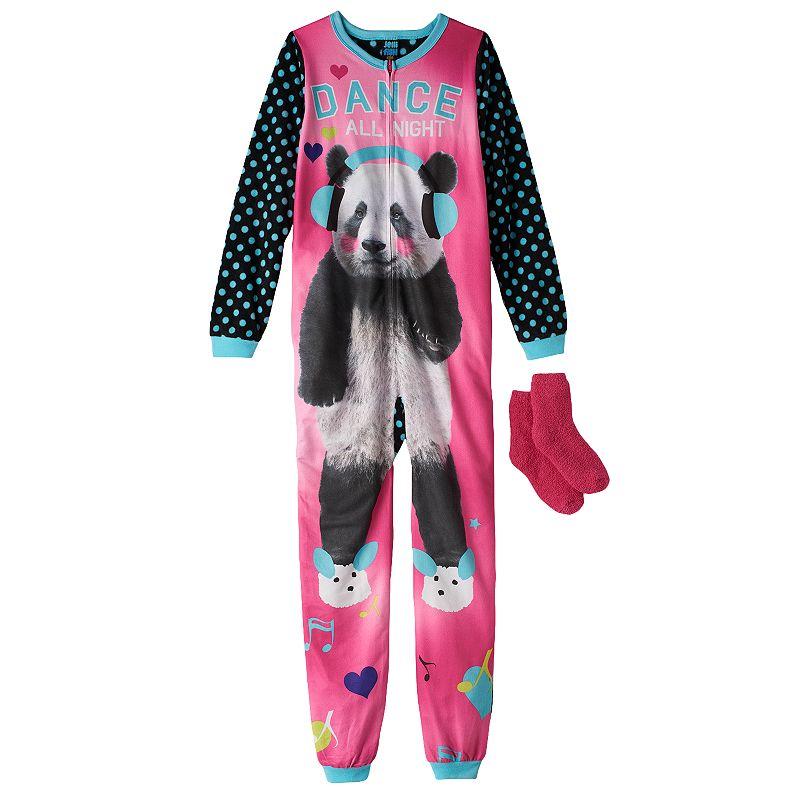 Jelli Fish Kids Fleece One-Piece Animal Pajamas - Girls 4-16