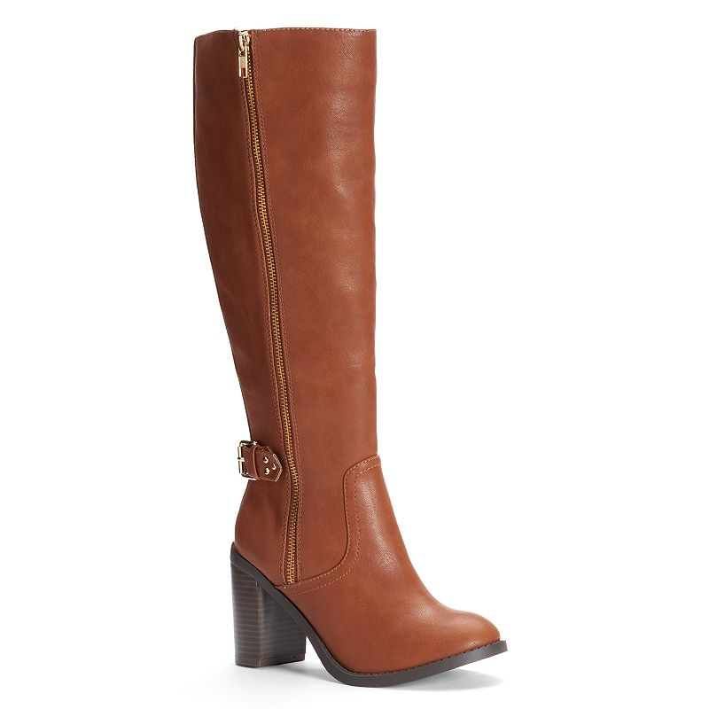 LC Lauren Conrad Women's Knee-High Heeled Boots