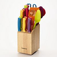 18-Piece Farberware Slice and Store Knife Block Set