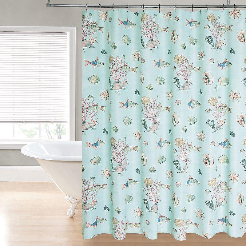 Regal Home Shellfish Fabric Shower Curtain