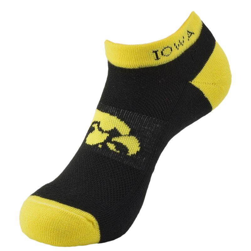 Men's Iowa Hawkeyes Spirit No-Show Socks
