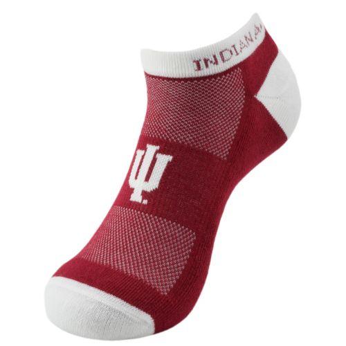 Men's Indiana Hoosiers Spirit No-Show Socks