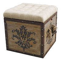 Pulaski Antique Damask Storage Ottoman