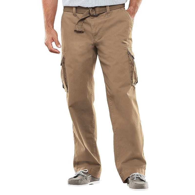 These men's dress pants have you in mind from the get go with a thoughtful fabric that is a blend of cotton and polyester to give you comfort, great looks and easy care. The styling of these cargo pants is familiar with pockets where you want and expect them and a fit that's just right.