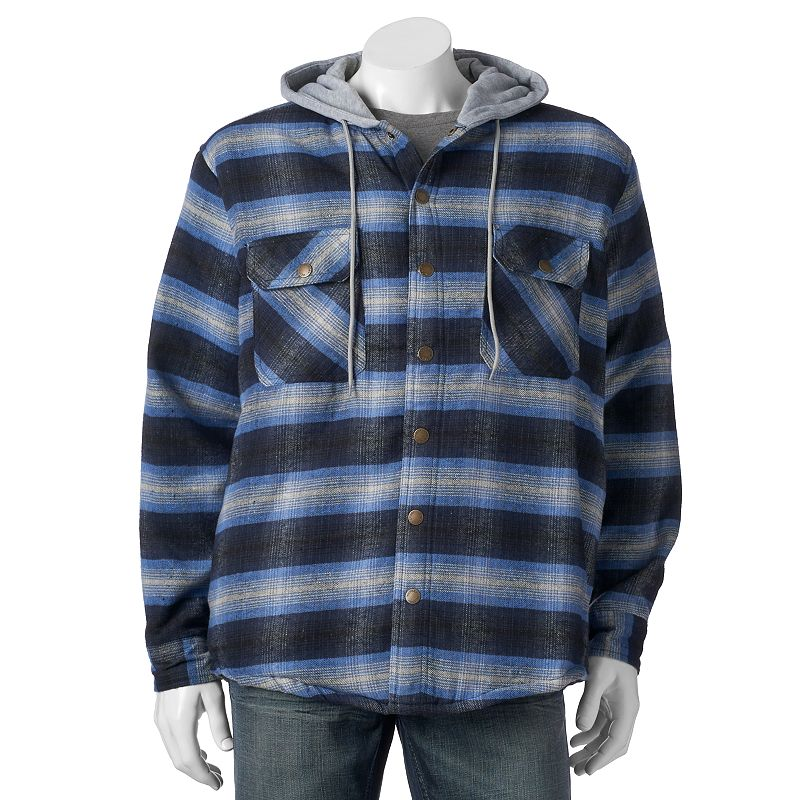 Polyester cotton mens jacket kohl 39 s for Cotton polyester flannel shirts