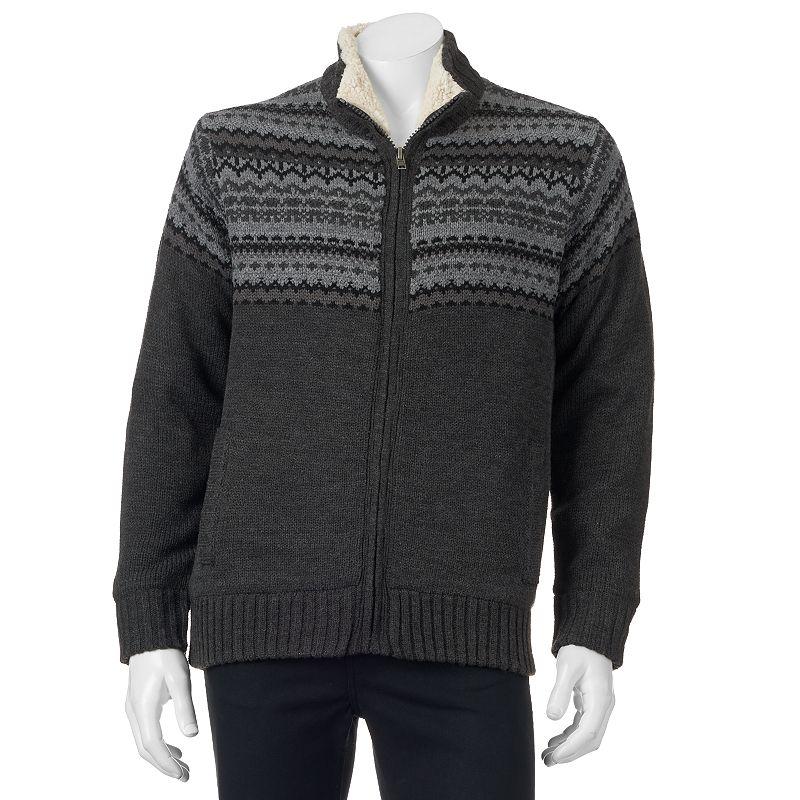 Men's Field & Stream Sherpa Lined Fairisle Sweater