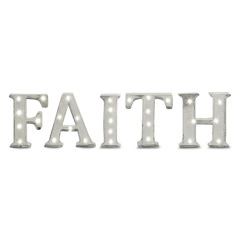 ''Faith'' LED Marquee Sign Wall Decor
