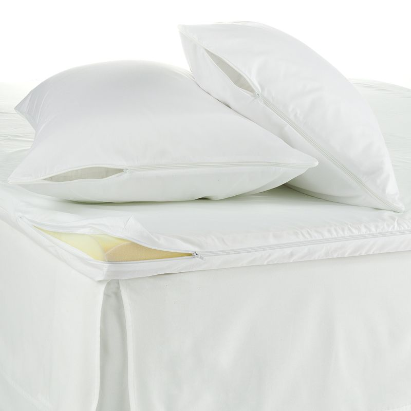 Allergen-Proof 3-pc. Featherbed & Pillow Protector Set