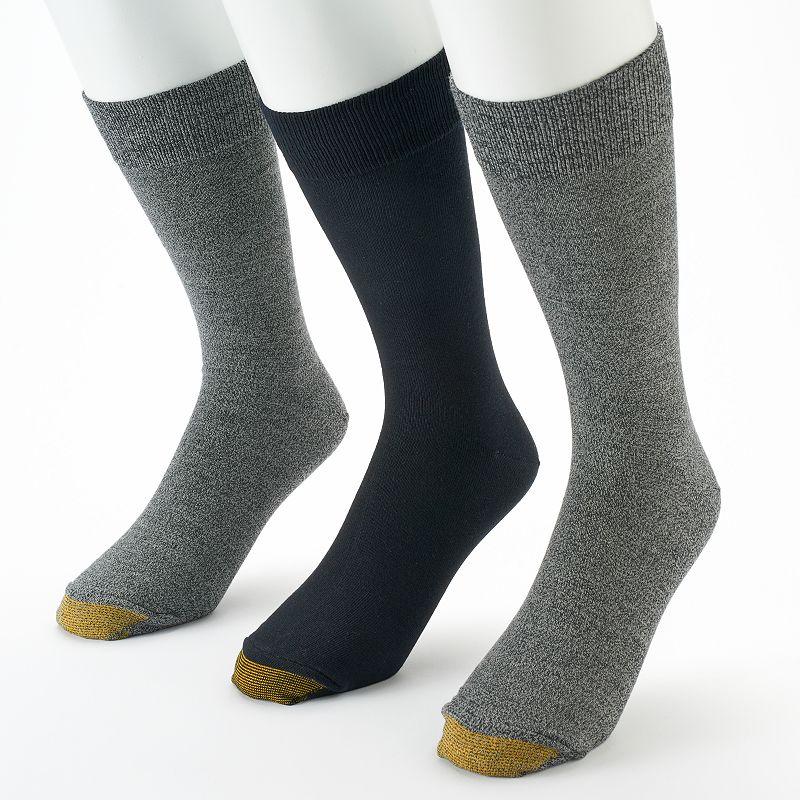 Men's GOLDTOE 3-pack Flat-Knit Marled Socks