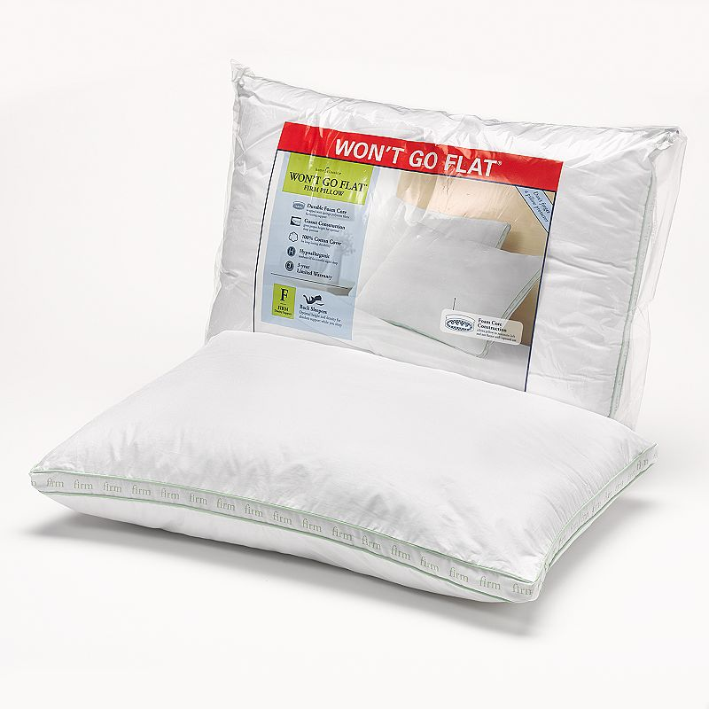 Home Classics Won't Go Flat Firm Pillow