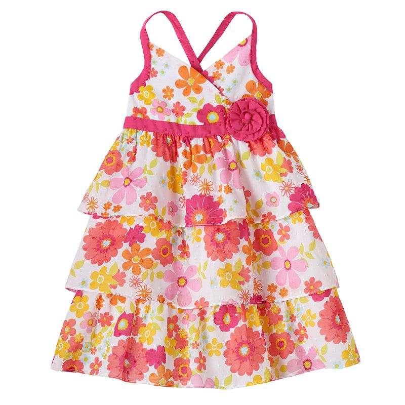 Penny M Tiered Floral Dress - Toddler Girl
