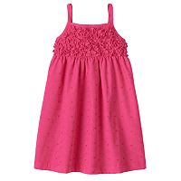Penny M Embroidered Ruffle Dress - Toddler Girl