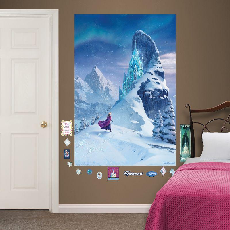 28 frozen wall mural disney frozen girls childrens photo frozen wall mural disney s frozen snow queen elsa s castle mural wall decal