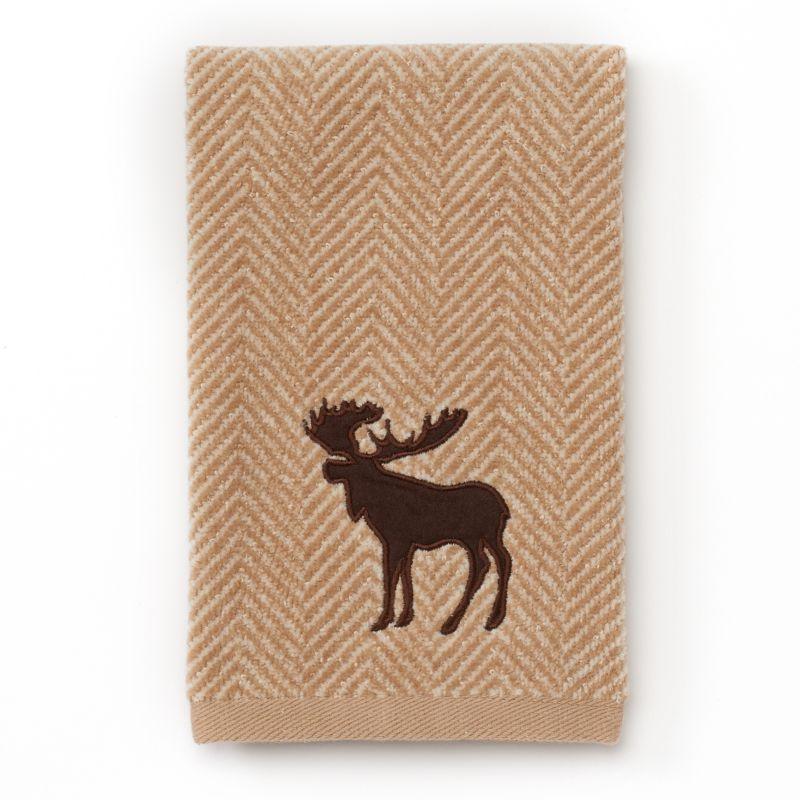 St Nicholas Square 174 Moose Chevron Fingertip Towel