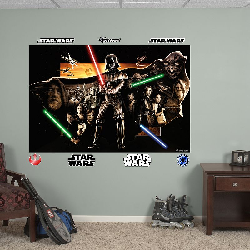 Star Wars Saga Collage Mural Wall Decal by Fathead