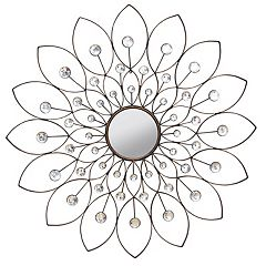 Stratton Home Decor Decorative Flower Wall Mirror by