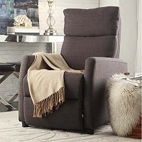 HomeVance Ralston Contemporary Club Recliner Arm Chair (Dark Gray)