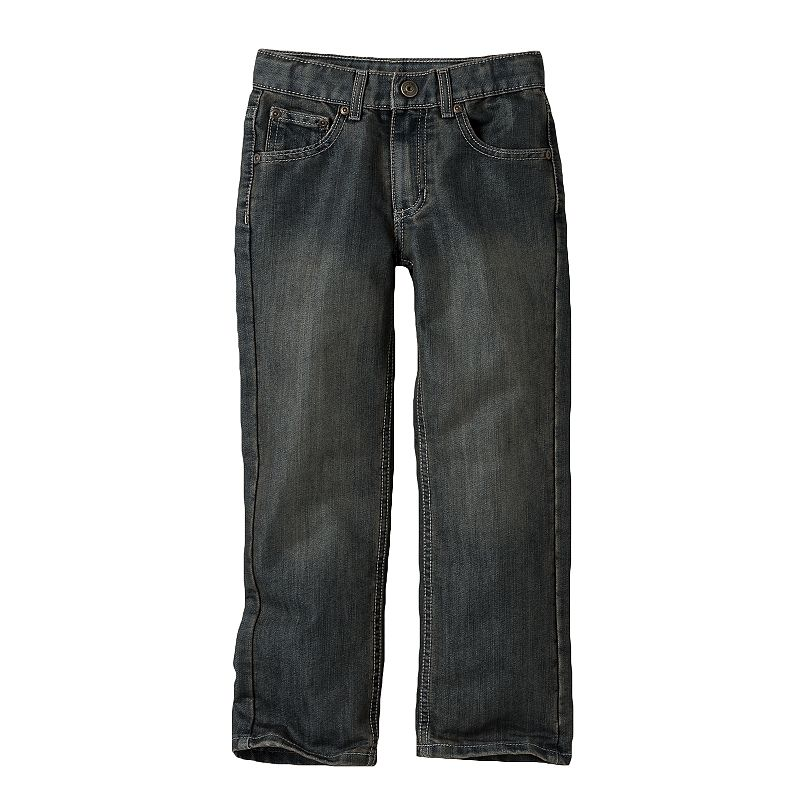Boys 4-7x SONOMA Goods for Life™ Dark Stone Straight-Leg Faded Jeans