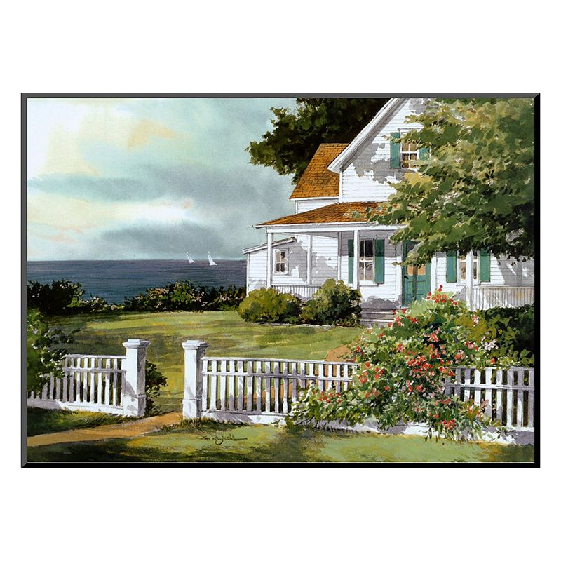 Art.com ''White Fence in Cape Cod'' Wall Art