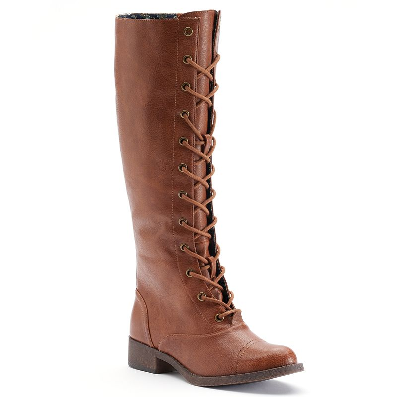 Unleashed by Rocket Dog Clancey Sierra Women's Lace-Up Riding Boots