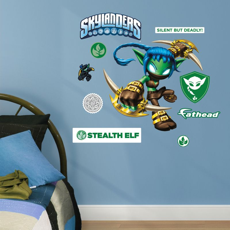 Skylanders Stealth Elf Wall Decals by Fathead Jr. 99380831