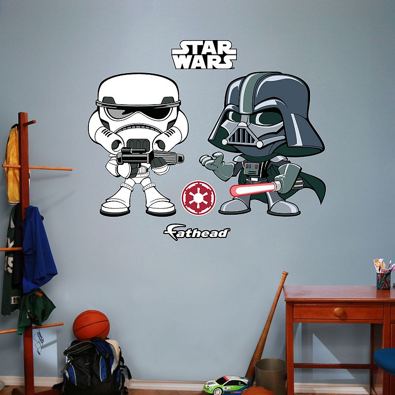 Star Wars Darth Vader & Stormtrooper Pop! Wall Decal by Fathead